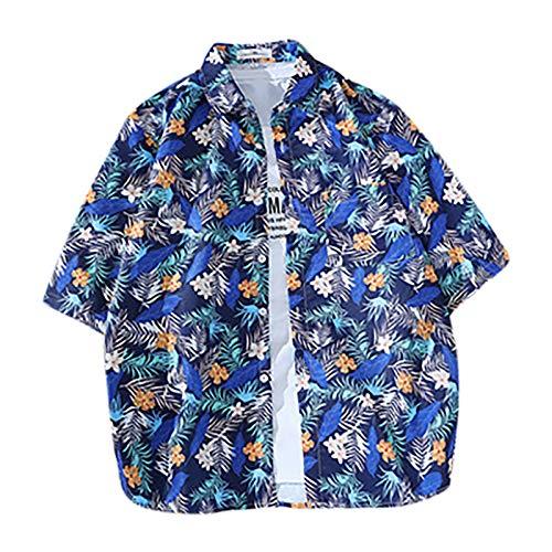 Hawaii Casual manga corta Novelly Tropical Vintage Tee Tops Camiseta de manga corta para adolescentes y niñas con estampado koala azul XL