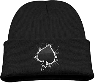 ADGoods Kids Children Poker Ace of Spades Beanie Hat Knitted Beanie Knit Beanie For Boys Girls Gorra de béisbol para niños