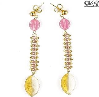 Rose Earrings - Antica Murrina Collection - Original Murano Glass OMG