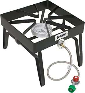 "Bayou Classic SQ14 SQ14-16-in Outdoor Patio Stove, 13"" H x 16"" W x 16"" L, Black"