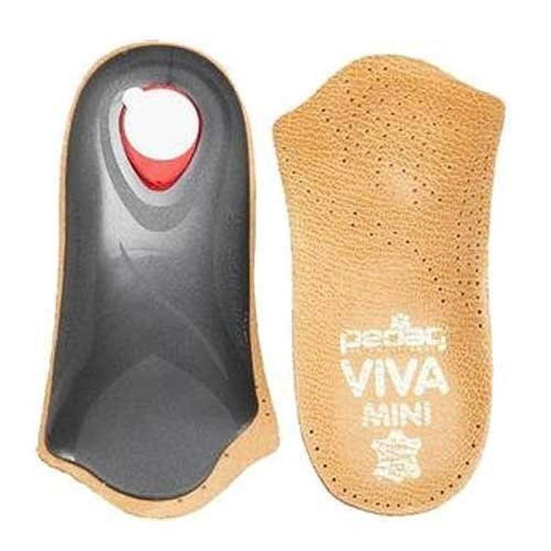 Pedag Viva Mini Orthotic with Semi-Rigid Arch Support, Metatarsal & Heel Pad, Leather, Tan, US W11/M8/EU41