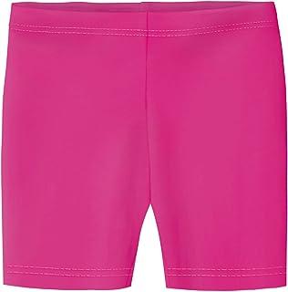 City Threads Girls' 100% Cotton Bike Shorts for Sports, School Uniform Under Skirts Made in USA