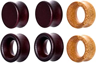 Lovoski 3 Pairs Wooden Saddle Tunnel Stretching Gauges Expander 8mm-20mm Pick Size