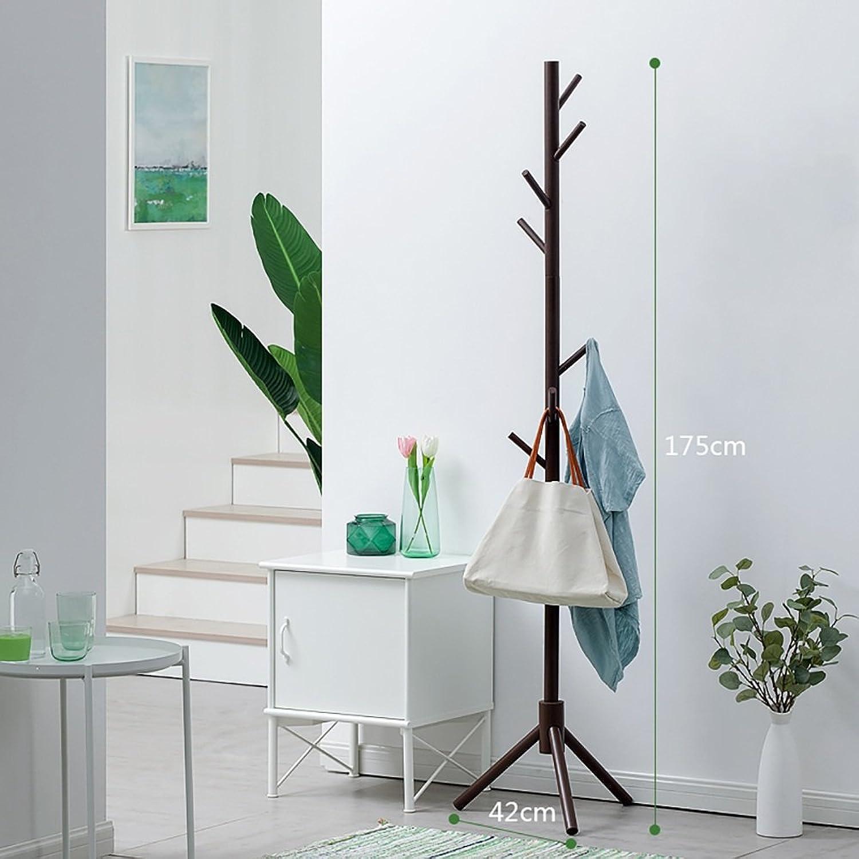 XRXY Simple Solid Wood Floorstanding Coat Rack Living Room Storage Rack Bedroom Hangers (4 colors Optional) (color   Brown, Size   17542cm)