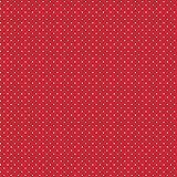 Baumwollstoff Pünktchen Rot Webware Meterware Popeline