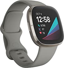 Fitbit Sense Advanced Smartwatch with Tools for Heart Health, Stress Management & Skin Temperature Trends, Sage Grey/Silve...