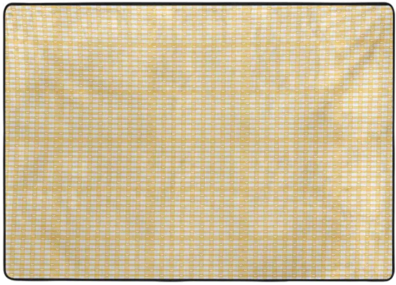 Collection Area Rug Gingham Pattern 2021 spring and summer new with Under blast sales Squa Checkered Bicolor