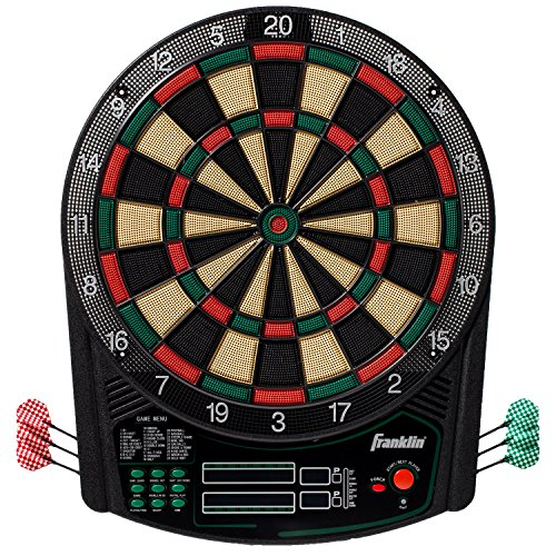 Franklin Sports Electronic Dartboard Set - Digital Dartboard with Scoreboard - Official Size 15.5' -...