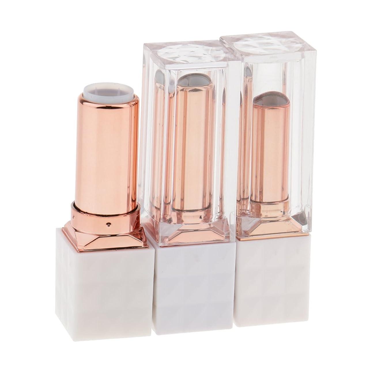 ティーム奨励します報酬のKOZEEY 3個 空チューブ リップバーム リップスティック コンディー 化粧品 コスメ 口紅 DIY 手作り プレゼント