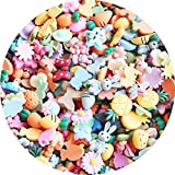 SUKPSY 50 Pcs Mix Candy Color Resin Flatback...