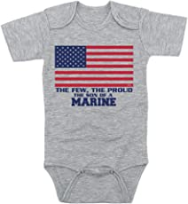 TeeNow - The Few The Proud, The Son/Daughter Of A Marine - (USMC) Inspired Baby Infant Onesie / Bodysuit - Boy / Girl