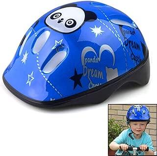 SUSHAFEN 1Piece Panda Safety Helmet Adjustable Headband & Vented Design Kids Bike Bicycle Head Helmets for Skating Board Girls Boys Protective Gear(Suitable Kids Aged 3-10),Blue