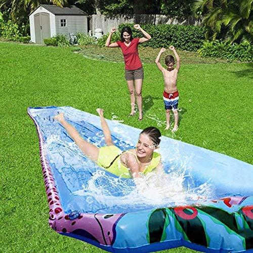 Slide 6 M Super Larga Individual Agua Césped De Verano Juegos De Agua Suministros Al Aire Libre del Patio Trasero del Parque Acuático Water Slide Spray Wave Rider Tobogán