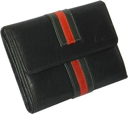 Laveri Flap Wallets- Leather- Black