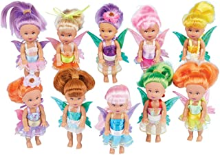 Collections Etc Little Fairy Dolls Set of 10