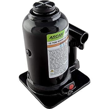 Arcan 12-Ton Capacity, Low-Profile Short Bottle Jack (ALBJ12S)