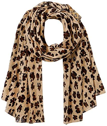 CODELLO Damen 81034810 Schal, Beige (Beige 15), One size (Herstellergröße: EG)