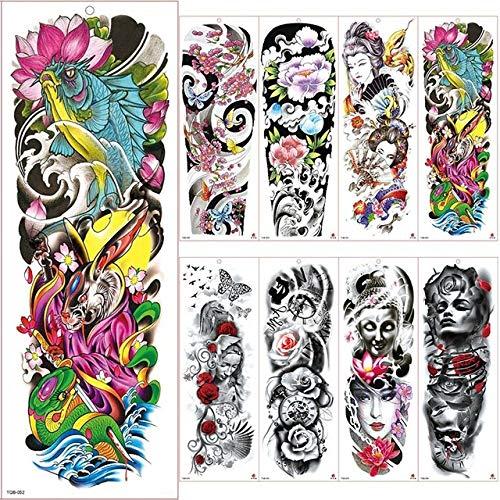 7pcs | Se adapta a mujeres de los hombres & amp; niños | Gran tatuaje mangas del brazo del tatuaje impermeable