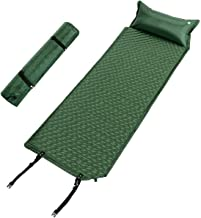 Giantex Self Inflating Sleeping Pad, Portable Hiking Air Mattress, Comfortable Foam Camping Mat with Pillow & Carry Bag, Lightweight Compact, Camp Mattress for Backpack, Traveling and Hiking