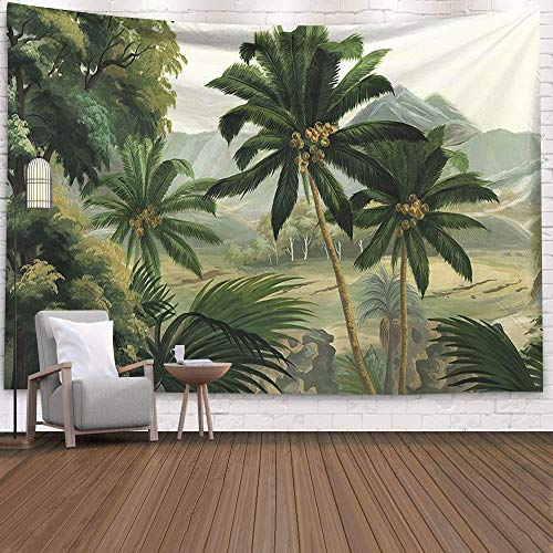 Tropical Leaves Wall Hanging Tapestry Mandala Palm Tree Tapestry Carpet Wall Hanging Blanket Travel Beach Mat 150x200cm