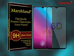 MARSHLAND Screen Protector 6d Full Glue Anti Scratch Bubble Free 9h Hardness Smooth Touch Tempered Glass Compatible for vivo v11 pro (Black)