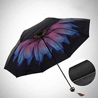 Umbrella Beautiful Female Models Folding Windproof Quality Expansion Fashion Beautiful Sun Drying Creative Umbrella Zzbiao (Color : Pink)