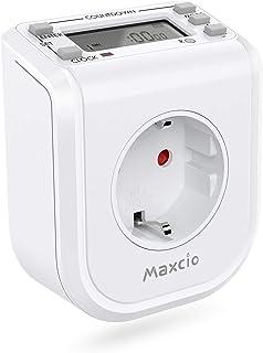 Mini Temporizador Enchufe Digital, Maxcio Enchufe Programable 16 Programas, 7 Días, Enchufe Temporizador con Horario de Verano/Modo Aleatorio/Cuenta Regresiva, Ahorrar Energía