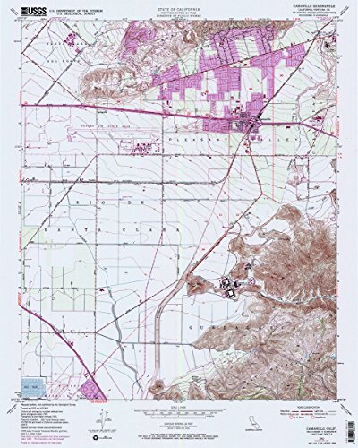 Historic Pictoric Map - 1950 Camarillo, CA - - USGS Historical Topographic Wall Art : 24in x 30in