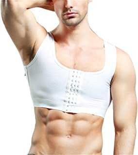 Breathable Invisible 3 Rows Clasp Gynecomastia Hide Man Moobs Chest Binders Short Tank