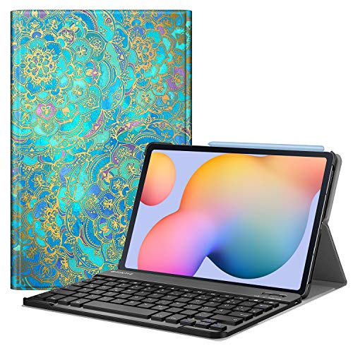 Fintie Keyboard Case for Samsung Galaxy Tab S6 Lite 10.4 SM-P610/ P615 2020 with Pen Holder - Ultra Thin Keyboard Case with Magnetic Detachable Wireless German Keyboard Z-Jade