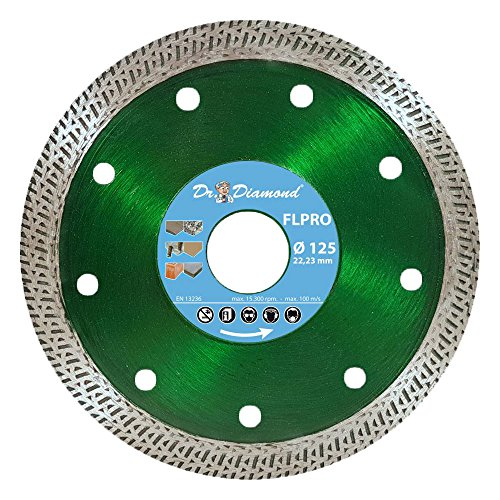 Dr. Diamond Diamant Trennscheibe Fliese Turbo-Profi 1 x 125 mm Bohrung 22-23 mm