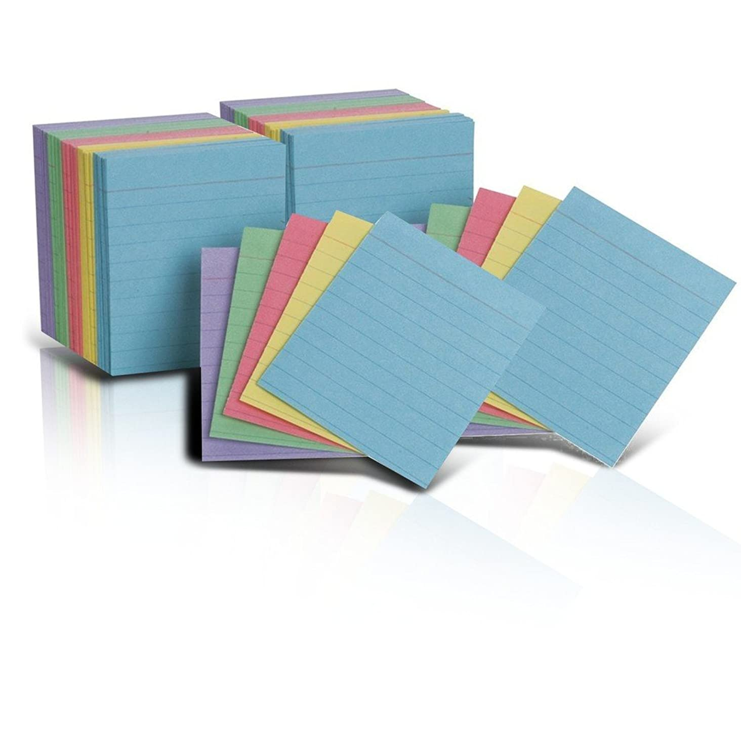 Oxford Half Size Index Cards, Assorted Colors, 3 x 2.5, Ruled, 2 Packs of 200 - Total Of 400 (10010)