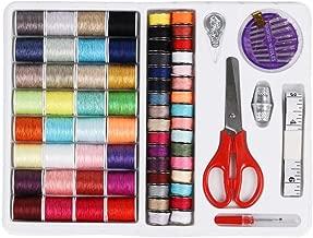Hemao 手縫い系 ミシン縫い糸 常備糸 シン糸32色 裁縫道具セット