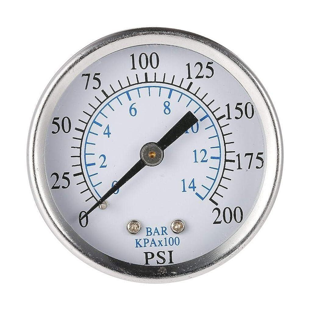 消費者実証する用語集TS-50-14bar 0-200psi 0-14bar 圧力計エアコンプレッサー油圧真空ゲージ圧力テスター 1/4 NPT 圧力計