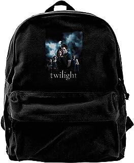 Mochila de lona The Twilight Saga Mochila de gimnasio, senderismo, portátil, bolsa de hombro para hombres y mujeres