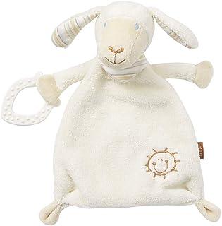 Fehn Fehn 154436 Schmusetuch Schaf – Schnuffeltuch mit Softbeißer – Zum Kuscheln für Babys und Kleinkinder ab 0 Monaten – Maße: 25 cm