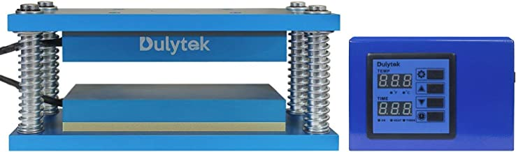 """Dulytek Retrofit Heat Caged Plate Kit, 3"""" x 8"""" Anodized Aluminum Plates, for 15-30 Ton Hydraulic or Air-Operated Shop Presses"""