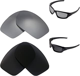 Walleva Titanium + Black Polarized Replacement Lenses For Oakley New Valve(2014&After) Sunglasses