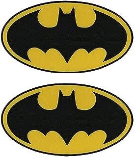 Antrix 2 Pcs Tactical Dark Knight Batman Patch DC Comics Movie Classic Superhero Batman Logo Applique Patch Hook and Loop Military Batman Badge Morale Patch -Oval 4.25x2.5