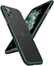 TORRAS Shockproof Compatible for iPhone 11 Pro Max Case, [Military Grade Drop Protection] [Anti-Scratches] Translucent Matte Hard PC Back with Soft Edges, Non-Slip Phone Case, Midnight Green