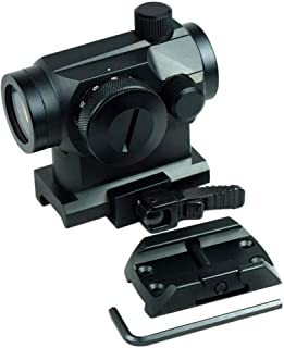 Evans Unlimited Red Dot Sight Hunting Accessories Tactical Red Dot Scope with Green Dot and Riser