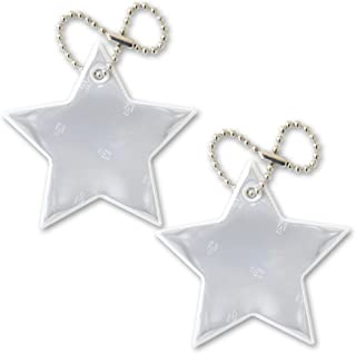 funflector Safety Reflector - Stars - Stylish Reflective Gear for Jackets, Bags, Purses, Backpacks, Strollers and Wheelchairs - Made in USA