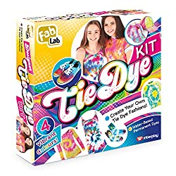 Create the latest cool fashions by adding vibrant and trendy colours to clothes and accessories Contains 4 dyes in applicator bottles rubber bands and PVC lab gloves There are enough ingredients to dye the equivalent of 5 T Shirts 8 page intruction g...