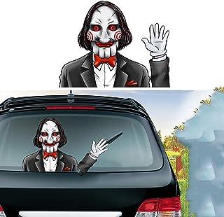 MIYSNEIRN Halloween Scary Billy Waving Wiper Decal for Rear Window 3D Cartoon Festive Car Sticker Reusable Waterproof Viny...