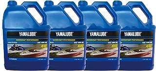 Yamaha New OEM WaveRunner Boat Oil Case of 4 Gallons 10W-40 4W LUB-10W40-WV-04