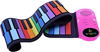 Riptunes Roll Up Musical Piano Keyboard for Kids 49 Keys Dig