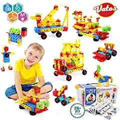316 PCS BLOCKS- Vatos stem toys offers a wide array of project ideas and easy to assemble. Encourage your child to learn through play! This vatos building toys specially created to develop your child's hand-eye coordination, master fine motor skills,...