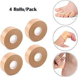 Foot Care Sticker,Soniker 4 Rolls Heel Tape Heel Grips Protector, Waterproof Adhesive Foam Blister Tape to Prevent Blister Chafing and Friction,195 Inches Long X 4 Rolls