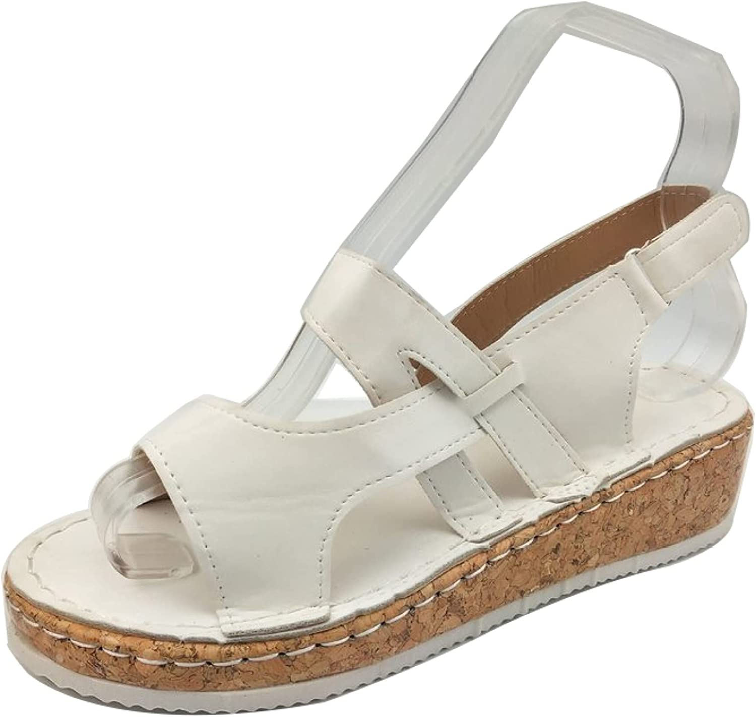 Women Casual Solid Color Wedges Sandals Open Hook Jacksonville Mall Tulsa Mall Loop Toe A and
