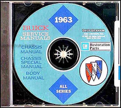 1963 Buick CD-ROM Repair Shop Manual & Body Manual
